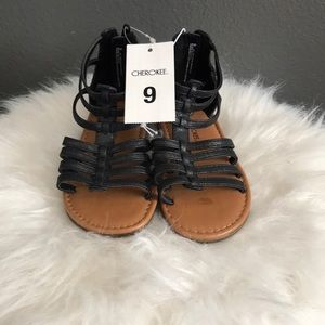 Black Size 9 Toddlers Sandals 😎